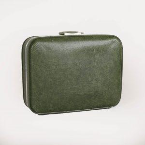 Green Vintage Suitcase