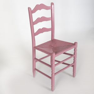 pink wooden chair