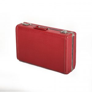 vintage red suitcase