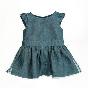 teal shimmer toddler dress rental