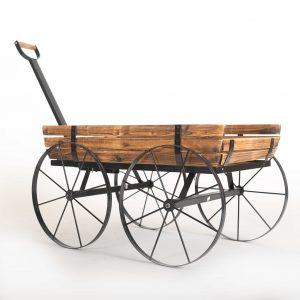 rustic wood wagon