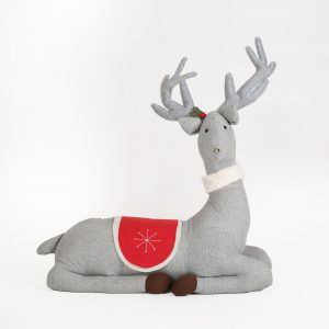 gray holiday deer prop