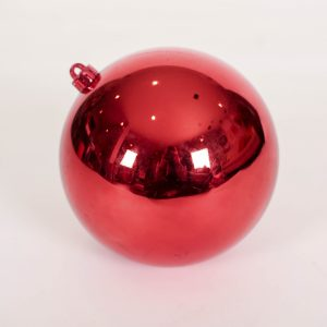 large red ball ornament