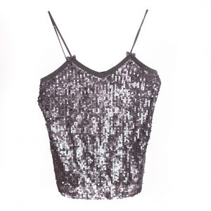 silver sequin tank top rental