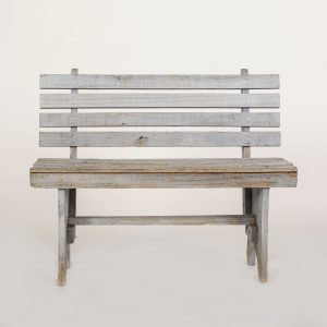 gray bench prop rental