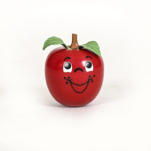 vintage happy apple toy