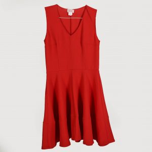 red v neck dress for rent
