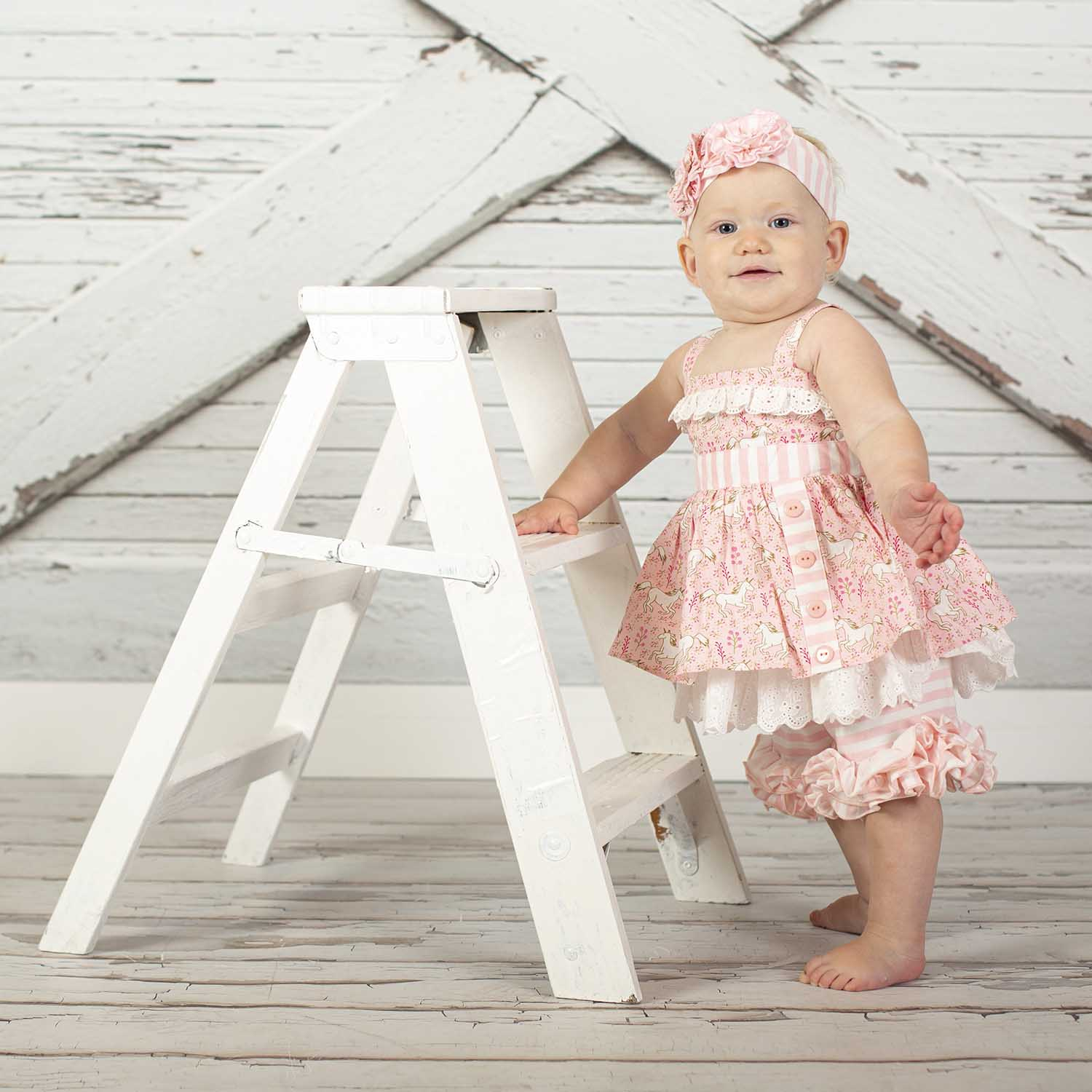 White Wooden Ladder Small My Prop Boutique
