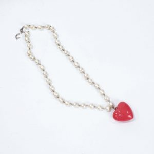 Heart and Pearl Prop Necklace