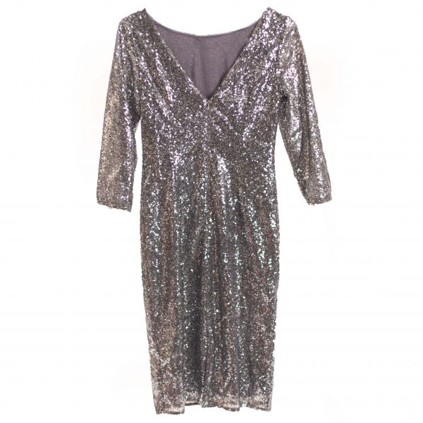 silver sequin dress rental