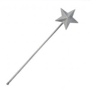 silver glitter star wand