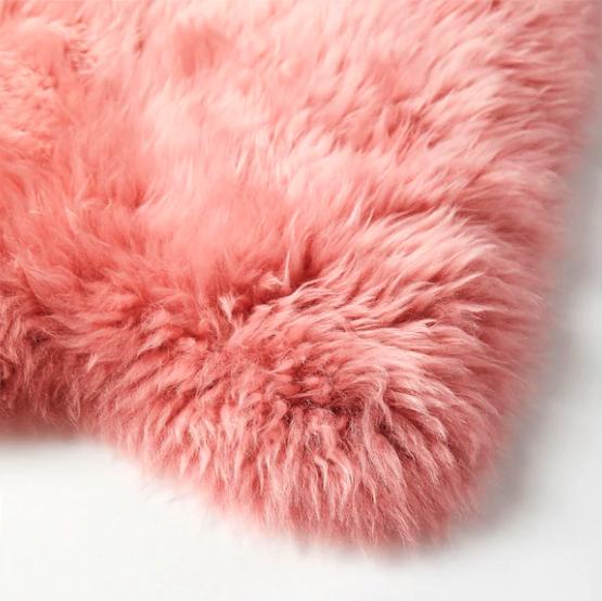 pink sheepskin ikea rug rental