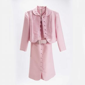 vintage pink jackie O dress rental