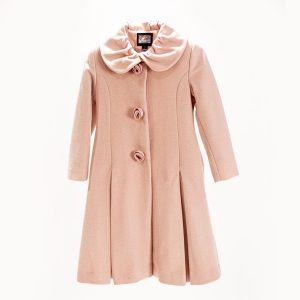 pink wool coat prop rental