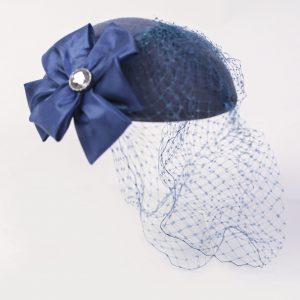 vintage blue hat for rent